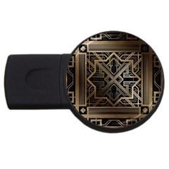 Art Nouveau Usb Flash Drive Round (4 Gb)