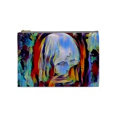 Abstract Tunnel Cosmetic Bag (medium)