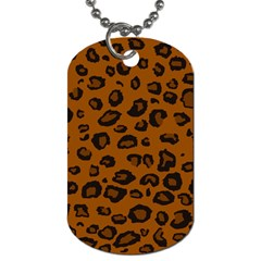 Dark Leopard Dog Tag (one Side) by TRENDYcouture
