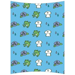 Frog Ghost Rain Flower Green Animals Back Support Cushion by Mariart