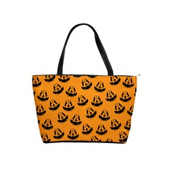 Halloween Jackolantern Pumpkins Icreate Shoulder Handbags by iCreate