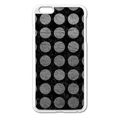 Circles1 Black Marble & Gray Leather Apple Iphone 6 Plus/6s Plus Enamel White Case by trendistuff