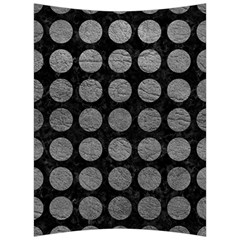 Circles1 Black Marble & Gray Leather Back Support Cushion by trendistuff