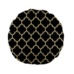 Tile1 Black Marble & Light Sand Standard 15  Premium Flano Round Cushions by trendistuff