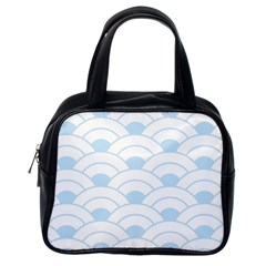 Blue,white,shell,pattern Classic Handbags (one Side) by 8fugoso