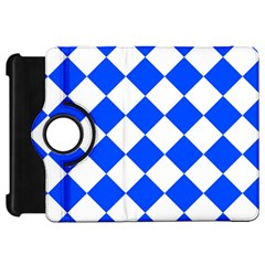 Blue White Diamonds Seamless Kindle Fire Hd 7  by Onesevenart