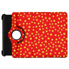Yellow Stars Red Background Kindle Fire Hd 7  by Onesevenart