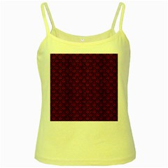 Scales2 Black Marble & Red Wood Yellow Spaghetti Tank by trendistuff
