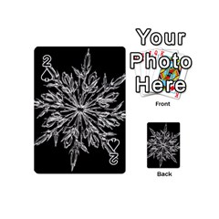 Ice Crystal Ice Form Frost Fabric Playing Cards 54 (mini)  by Onesevenart