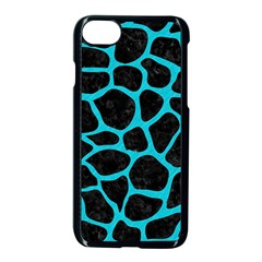 Skin1 Black Marble & Turquoise Colored Pencil Apple Iphone 8 Seamless Case (black) by trendistuff