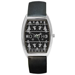 Ugly Christmas Sweater Barrel Style Metal Watch by Valentinaart