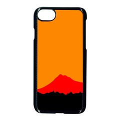 Mountains Natural Orange Red Black Apple Iphone 8 Seamless Case (black) by Mariart