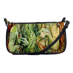 Chung Chao Yi Automatic Drawing Shoulder Clutch Bags by Celenk