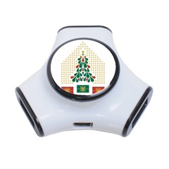 Christmas Tree Present House Star 3 Port Usb Hub