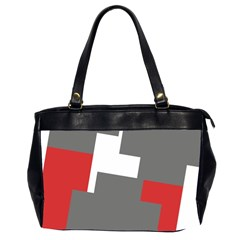 Cross Abstract Shape Line Office Handbags (2 Sides)  by Celenk