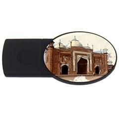 Agra Taj Mahal India Palace Usb Flash Drive Oval (2 Gb)