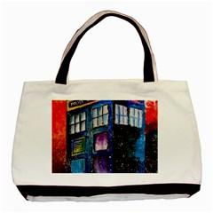 Dr Who Tardis Painting Basic Tote Bag