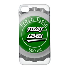 Fresh Taste Fizzy Lime Bottle Cap Apple Iphone 4/4s Hardshell Case With Stand