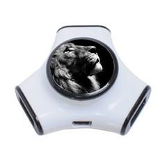 Male Lion Face 3 Port Usb Hub