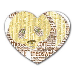 Panda Typography Heart Mousepads by Celenk