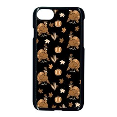 Thanksgiving Turkey  Apple Iphone 8 Seamless Case (black) by Valentinaart