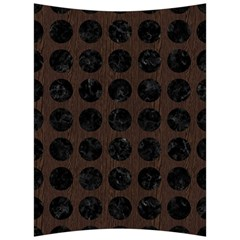 Circles1 Black Marble & Dark Brown Wood Back Support Cushion by trendistuff