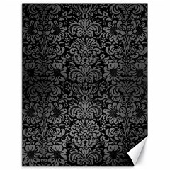 Damask2 Black Marble & Gray Brushed Metal (r) Canvas 18  X 24
