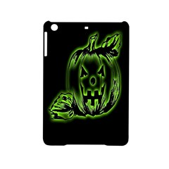 Pumpkin Black Halloween Neon Green Face Mask Smile Ipad Mini 2 Hardshell Cases