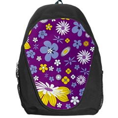 Floral Flowers Backpack Bag by Celenk