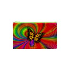 Arrangement Butterfly Aesthetics Cosmetic Bag (xs) by Celenk