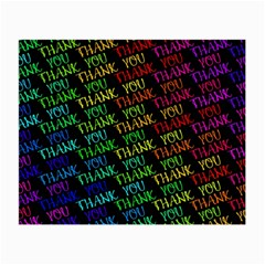 Thank You Font Colorful Word Color Small Glasses Cloth (2 Side) by Celenk