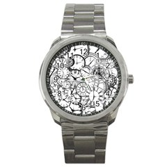 Time Clock Watches Time Of Sport Metal Watch