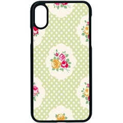 Green Shabby Chic Apple Iphone X Seamless Case (black) by 8fugoso