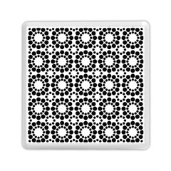 Black White Pattern Seamless Monochrome Memory Card Reader (square)  by Celenk
