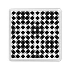 Black White Square Diagonal Pattern Seamless Memory Card Reader (square)  by Celenk