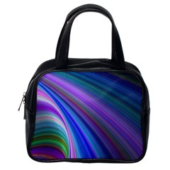 Background Abstract Curves Classic Handbags (one Side) by Celenk