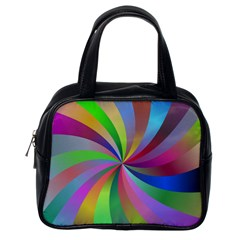 Spiral Background Design Swirl Classic Handbags (one Side) by Celenk