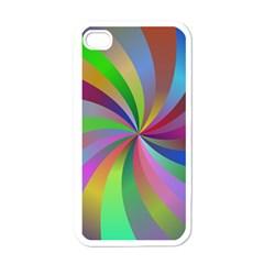 Spiral Background Design Swirl Apple Iphone 4 Case (white)