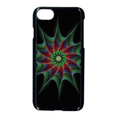 Star Abstract Burst Starburst Apple Iphone 8 Seamless Case (black) by Celenk