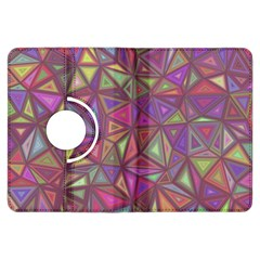 Triangle Background Abstract Kindle Fire Hdx Flip 360 Case by Celenk