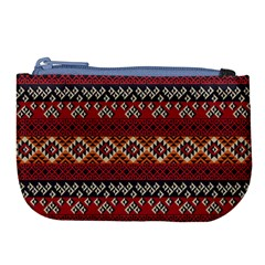 Native American Pattern 8 Large Coin Purse by Cveti
