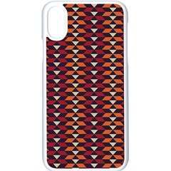 Native American Pattern 19 Apple Iphone X Seamless Case (white) by Cveti