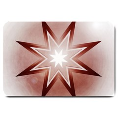 Star Christmas Festival Decoration Large Doormat  by Celenk
