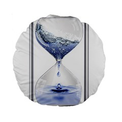 Time Water Movement Drop Of Water Standard 15  Premium Flano Round Cushions by Celenk