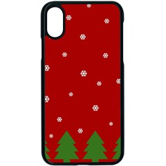 Christmas Pattern Apple Iphone X Seamless Case (black) by Valentinaart