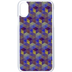 Hexagon Cube Bee Cell Purple Pattern Apple Iphone X Seamless Case (white) by Cveti