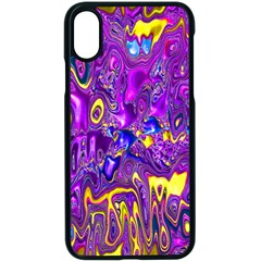 Melted Fractal 1a Apple Iphone X Seamless Case (black) by MoreColorsinLife