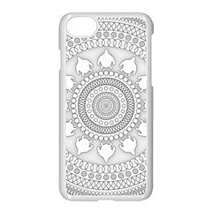 Mandala Ethnic Pattern Apple Iphone 8 Seamless Case (white) by Celenk