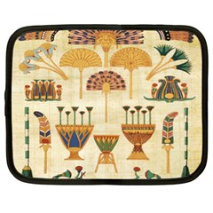 Egyptian Paper Papyrus Hieroglyphs Netbook Case (xl)  by Celenk