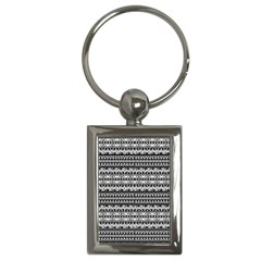 Zentangle Lines Pattern Key Chains (rectangle)  by Celenk